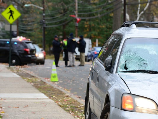 Pedestrian Stuck by Car