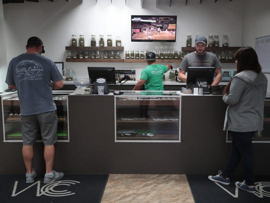 West Coast Cannabis in Cathedral City is one of many local marijuana dispensaries now open for recreational sales.