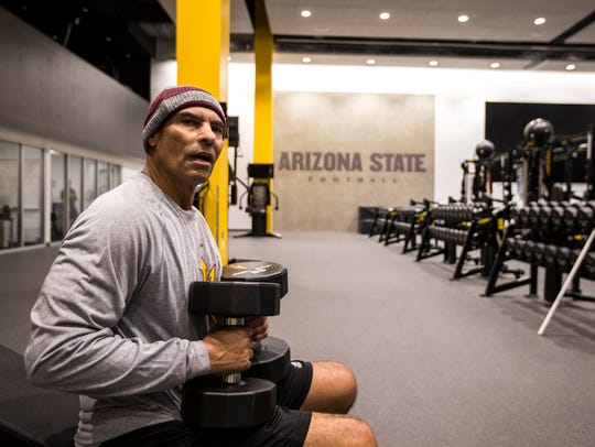 Arizona State football head coach Herm Edwards works