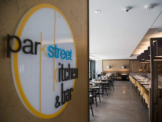 The Park Street Kitchen & Bar inside the Hilton Des Moines Downtown is set for its opening later this week on Monday, March 19, 2018, in downtown Des Moines.