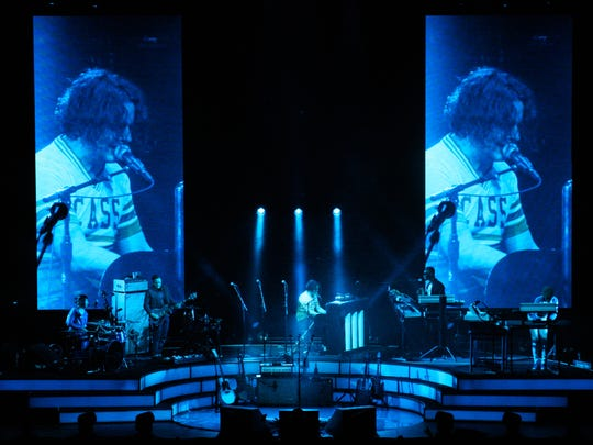Jack White performs at Little Caesars Arena in Detroit on April 19, 2018.