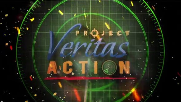 Title slide of Project Veritas video