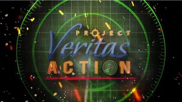 Title slide of Project Veritas video