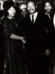 Louise Shropshire with her friend the Rev. Martin Luther King Jr. in the early 1960s in Cincinnati.