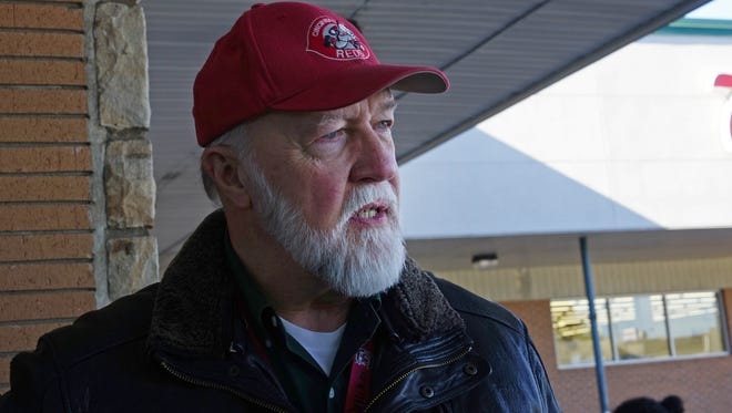 Carl Erkenbrecher, a DuPont employee for over 33 years talks about the current layoffs outside of Little Vinnie's Pizza & Pasta near Chestnut Run headquarters of DuPont Co. Erkenbrecher, now works for the spinoff Chemours.