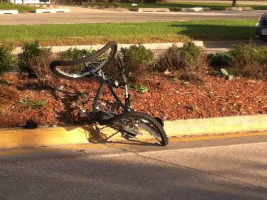 A motorcyclist allegedly hit a bicyclist in Ankeny Saturday afternoon.