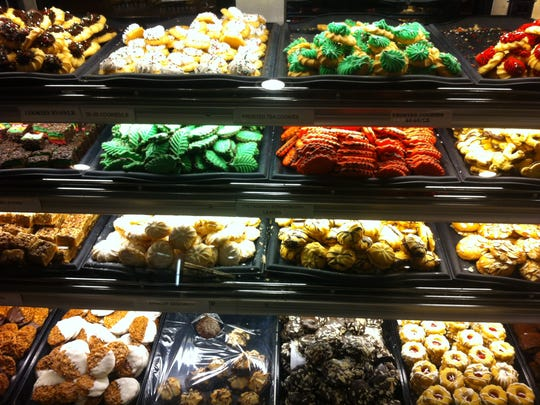 Cookies on display at Savoia Pastry Shoppe