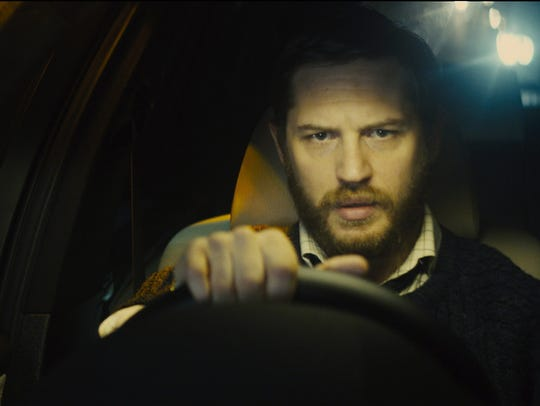 "Tom Hardy in a scene from ""Locke."" CREDIT: A24 [Via"