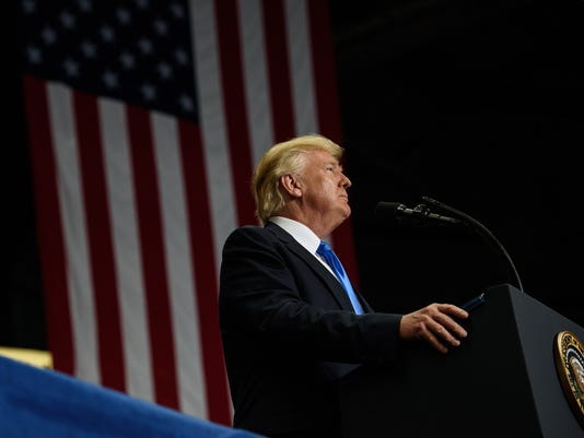 President Trump Holds Rally In Youngstown, Ohio