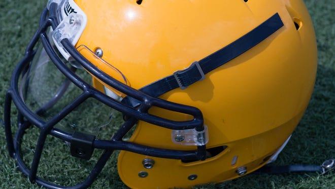 Battle Creek Central football helmet.