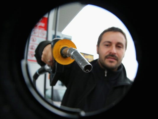 Gas price 36 cents below last year's level