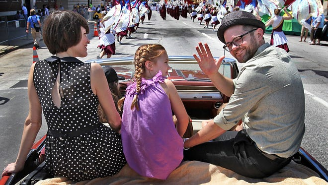 "Josh Kaufman, grand marshal of the 2014 500 Festival Parade, will sing ""Back Home Again in Indiana"" on May 29 before the 100th running of the Indianapolis 500."
