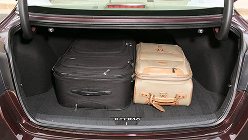 luggage in trunk