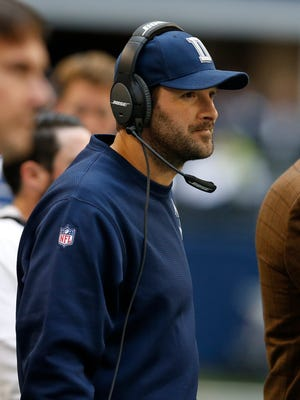 Tony Romo has been limited in practice this week in London.