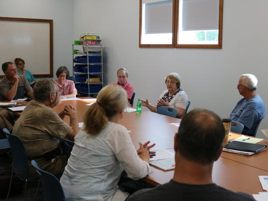 The Lake Erie Foundation continued its summer roundtable meetings at the Marblehead Peninsula Branch Library on Friday to discuss issues facing the lake.