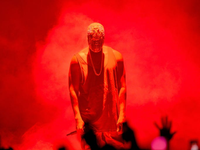 Kanye West performs live for fans at Brisbane Entertainment Centre on September 15, 2014 in Brisbane, Australia.