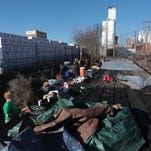 People moved from a homeless camp downtown in January. The city has created a task force to focus on emergency shelter options in Springfield.