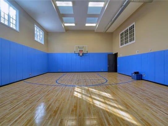 The basketball court at Jim Caldwell's home.