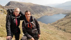 Bear Grylls with Kate Winslet on 'Running Wild with