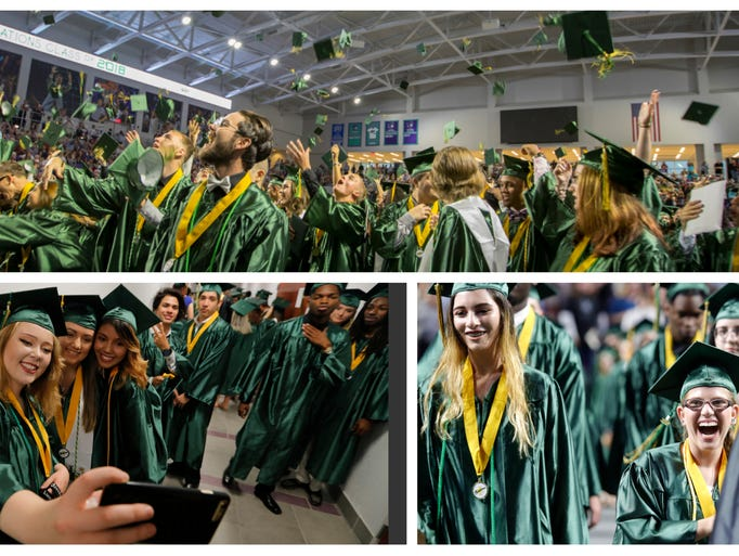 Island Coast High School seniors celebrate their graduation