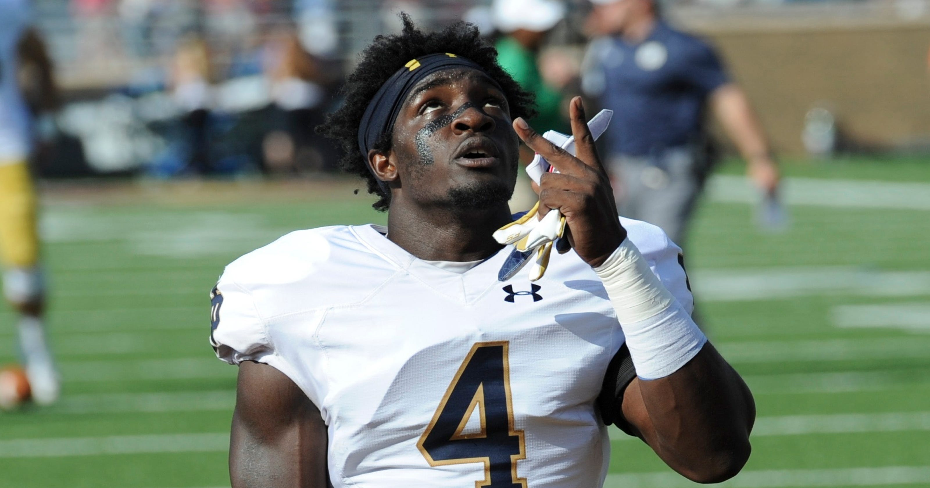 hot sale online 3dede 9b9df Notre Dame football linebacker Coney gets probation over ...