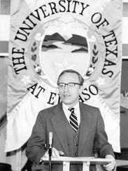 Haskell Monroe, who died Monday, was president of UTEP