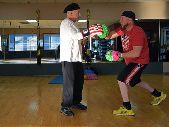 Howie Kule, 74, of Upper Saddle River trains with Ron