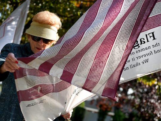 Teresa Pivirotto of Clifton attends the 9/11 Memorial