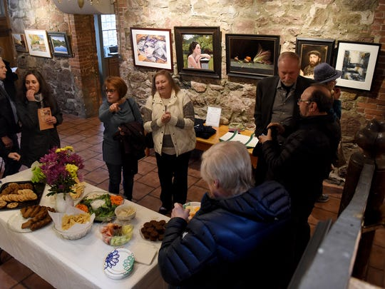 The opening reception of the 38th Annual Regional Juried