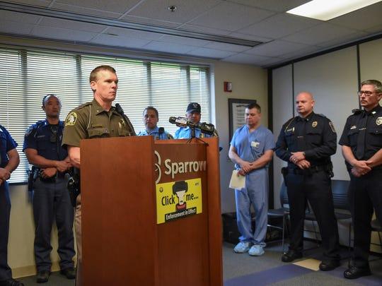 Ingham County Sheriff Scott Wriggelsworth talks about