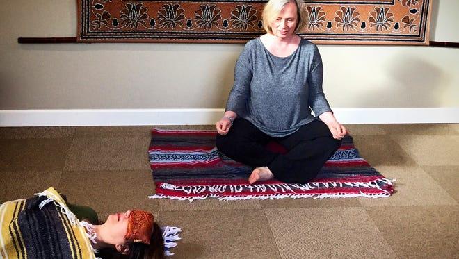 Claudia Gukeisen conducts Yoga Nidra at Izlind in Rhinebeck.