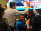 Mayor Mike Huether high fives supporters after winning the election on Tuesday, April 8, 2014 during a campaign party at the downtown Hilton Garden Inn.