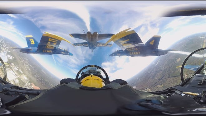 Experience the U.S. Navy's Blue Angels from aboard one of their F/A-18 Hornet jets.