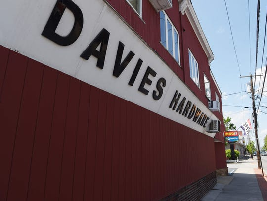 An exterior of Davies Hardware in the Town of Poughkeepsie.