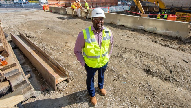 Larry Brinker Jr., president of L.S. Brinker, runs a minority-owned construction management business that his father, Larry Brinker Sr., founded.