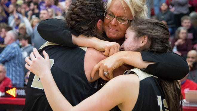Winchester went head to head with Paoli for the 2A Semi-State Championsihp on Feb. 17 at Jeffersonville High School. Winchester won with a final score of 49-47 in overtime.