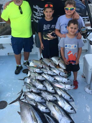 This party aboard Mattanza charters out of Pirates Cove Resort and Marina in Port Salerno caught their share of blackfin tuna to 21 pounds Friday.