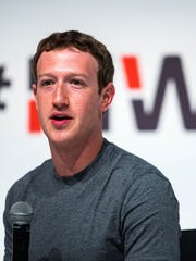 Founder and CEO of Facebook Mark Zuckerberg speaks