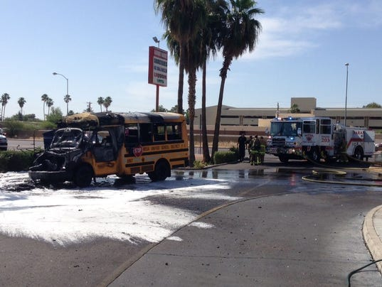 Mesa bus fire pic