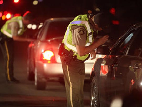 An undated file photo depicts a DUI checkpoint. Palm Springs police said one person was arrested on suspicion of driving under the influence of alcohol at a checkpoint overnight Friday to Saturday.