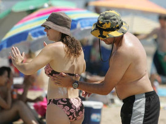 The cream sunscreen can be more effective.