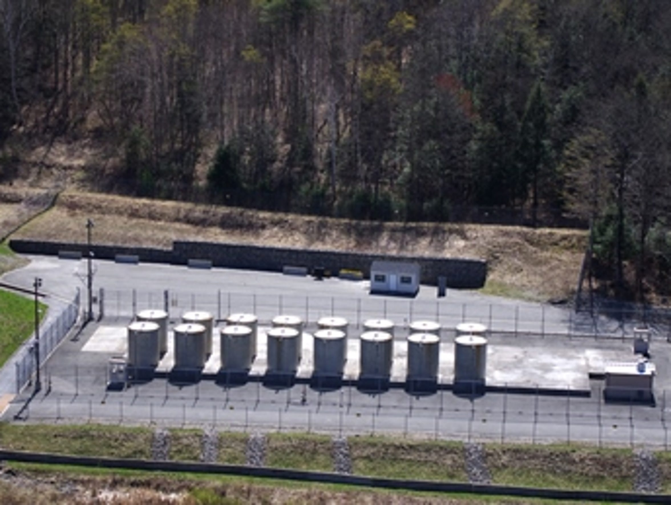 An April 2012 view of the Independent Spent Fuel Storage