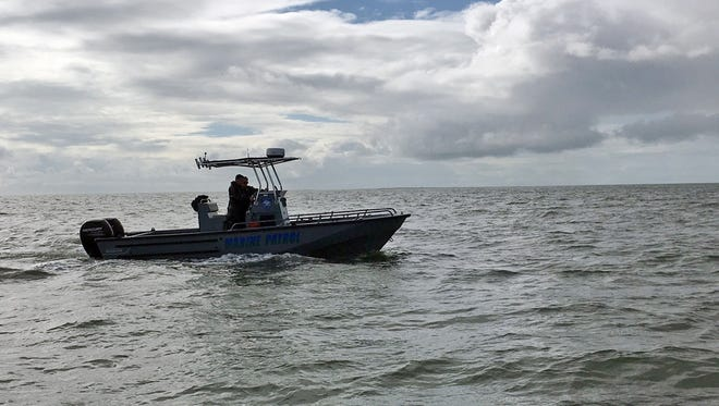 The Marine Patrol assists authorities searching for evidence of a single-engine plane that went missing shortly after taking off from  Gulfport-Biloxi International Airport.