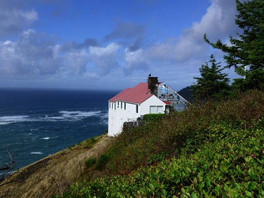 The Lookout Observatory and Gift Shop at Cape Foulweather near Depoe Bay sits atop a 500-foot cliff.