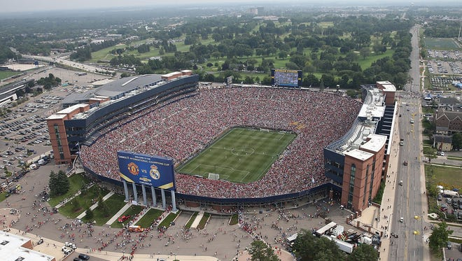 Real Madrid and Manchester United drew 109,318 to Michigan Stadium in 2014.