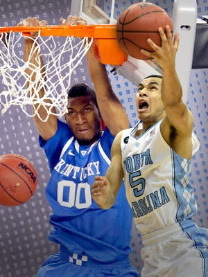 Kentucky (Marcus Lee) and North Carolina (Marcus Paige) are tied at the top, sharing the preseason No. 1 ranking.