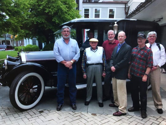Al Morkunas, third from left, with the Woodrow Wilson 1919 Pierce-Arrow committee: former museum curator Rick Potter, former museum director Don Wilson, colleague Richard Obenshain and former committee director Dick Robertson. Morkunas died Aug. 8, 2017 from cancer.