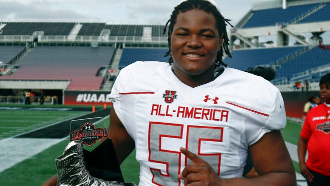 Rashan Gary, the unanimous No. 1 player in the high school football recruiting class of 2016.