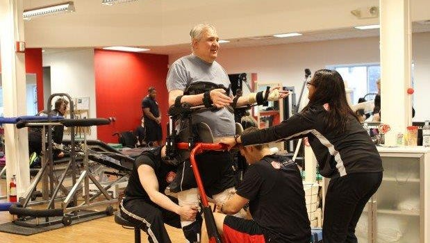 Therapists at Walk the Line to Spinal Cord Injury Recovery in Southfield work with Canton's Rick Cigile on a weekly basis.