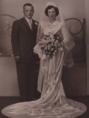 Ray DuBois married Mae Everard Sept. 14, 1949, at St. Francis DePaul Church in Duvall.
